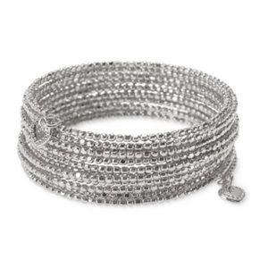 Stella & Dot Bardot Wrap Bracelet Silver